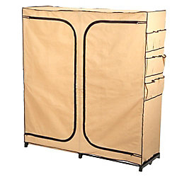 "Honey-Can-Do International 60"" Double Door Storage Closet with shoe organizer"