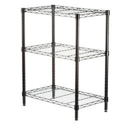 Honey-Can-Do International 3-Shelf 30-inch H x 24-inch W x 14-inch D Steel Commercial Shelving Unit