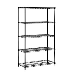 Honey-Can-Do International 5-Shelf 72-inch H x 42-inch W x 18-inch D Steel Shelving Unit in Black