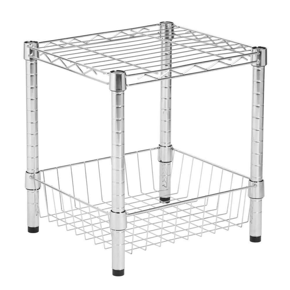 Commercial chrome table w/basket