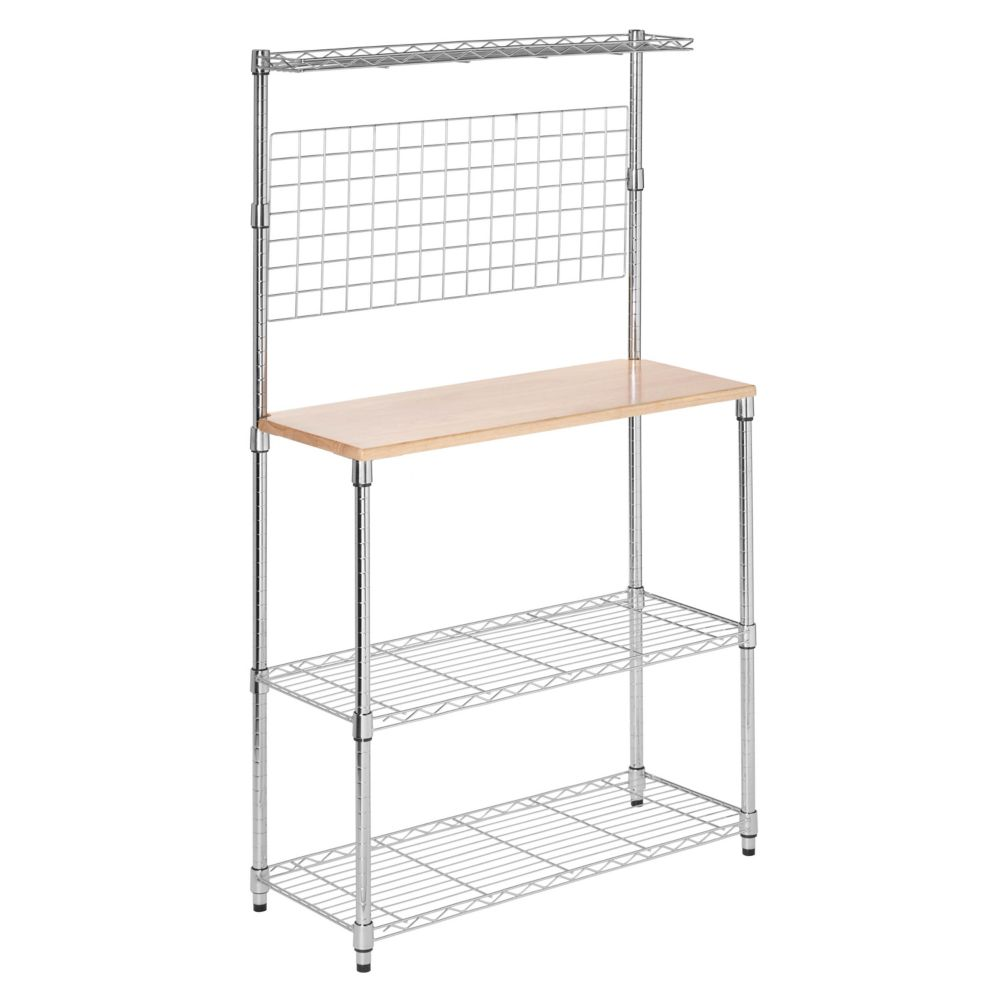 Honey-Can-Do International Chrome 2-Shelf Urban Baker's Rack