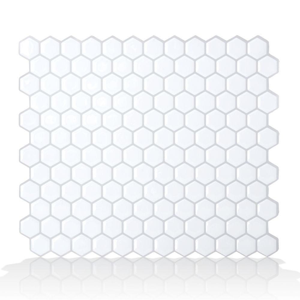 6 - Pieces 11.26  Inch x 9.63  Inch Peel and Stick Hexago Mosaik