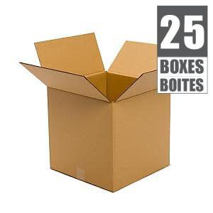 Ensemble de 25 boîtes 16po x 16po x 16po