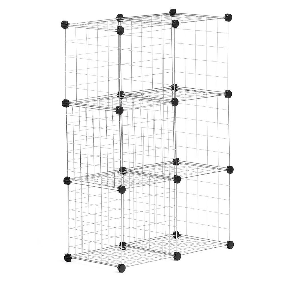 Modular Mesh Storage Cube in Silver (6-Pack)