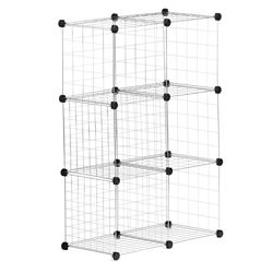 Honey-Can-Do Modular Mesh Storage Cube in Silver (6-Pack)