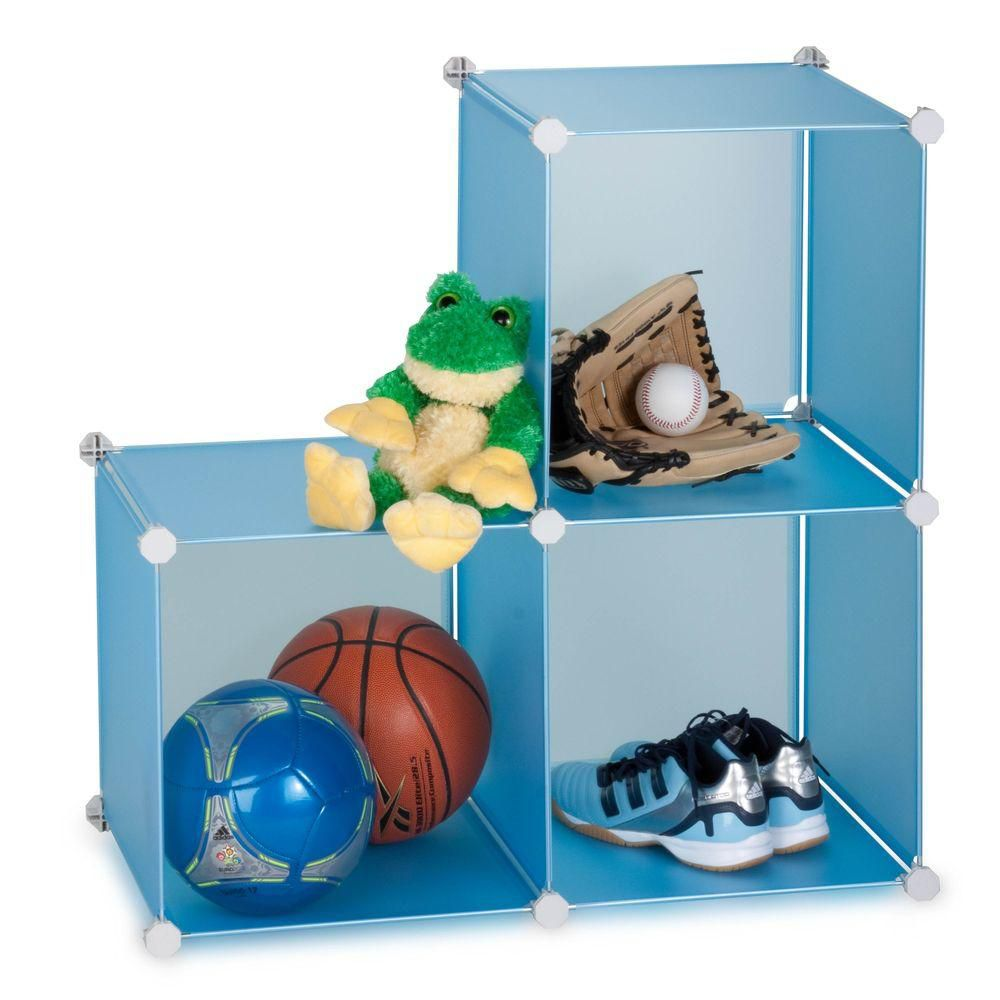 3 pack storage cubes- blue