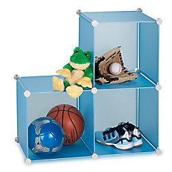 Honey-Can-Do International 30.25-inch x 30.25-inch Blue Stackable Cube Organizer
