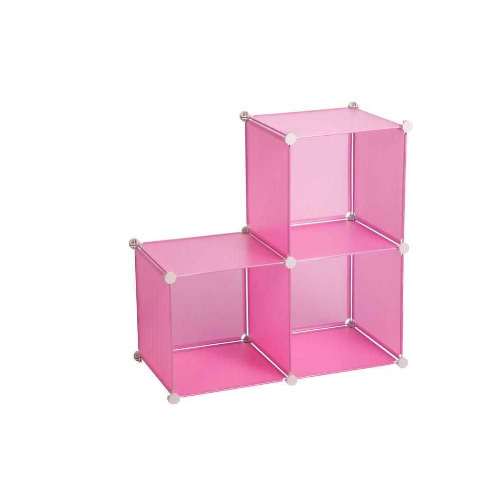 Jeu de 3 cubes, rose