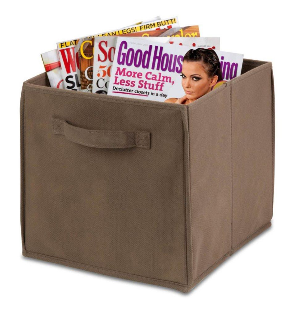 4 pack Non-woven foldable cube- taupe SFTZ01214 Canada Discount