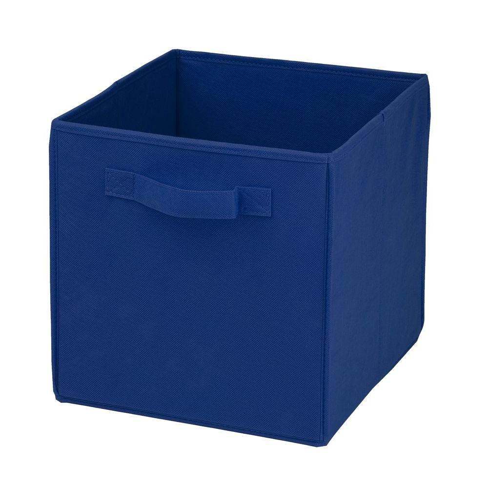 Honey-Can-Do International Collapsible Polyester Storage Cube in Blue (4-Pack)