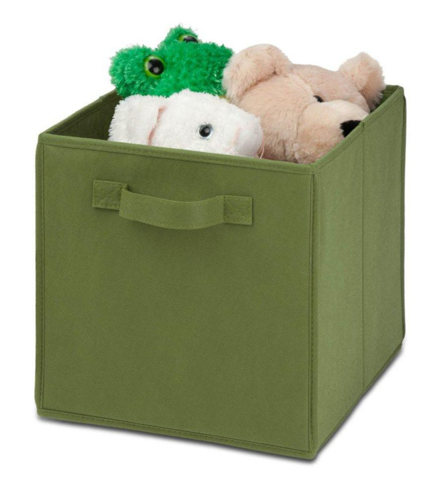 4 pack Non-woven foldable cube- green