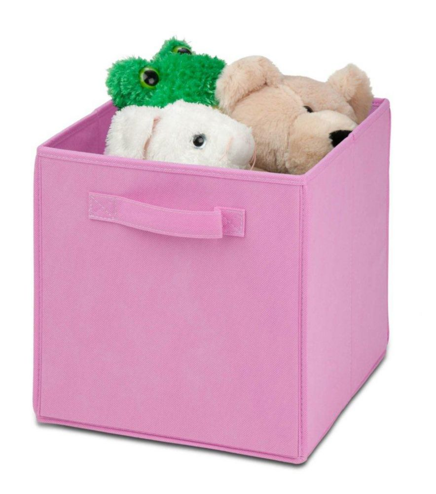 4 pack Non-woven foldable cube- pink
