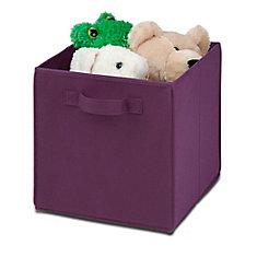 Folding Storage Cube in Purple (4-Pack)