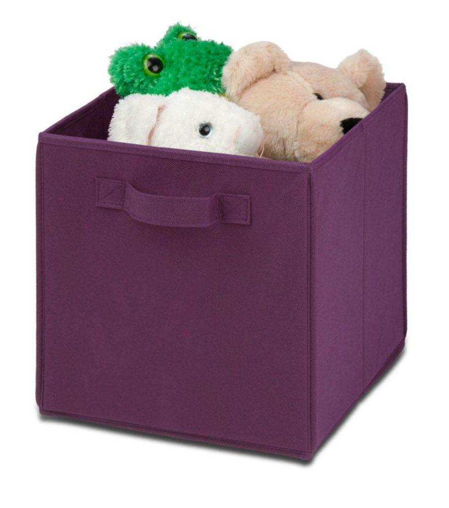 Jeu de 4 cubes pliantes non-tissées, violet