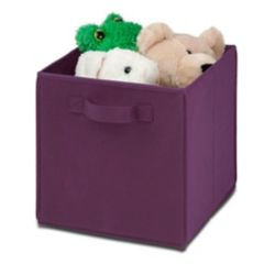 Honey-Can-Do Jeu de cubes de rangement pliants, violet, 4/paq.