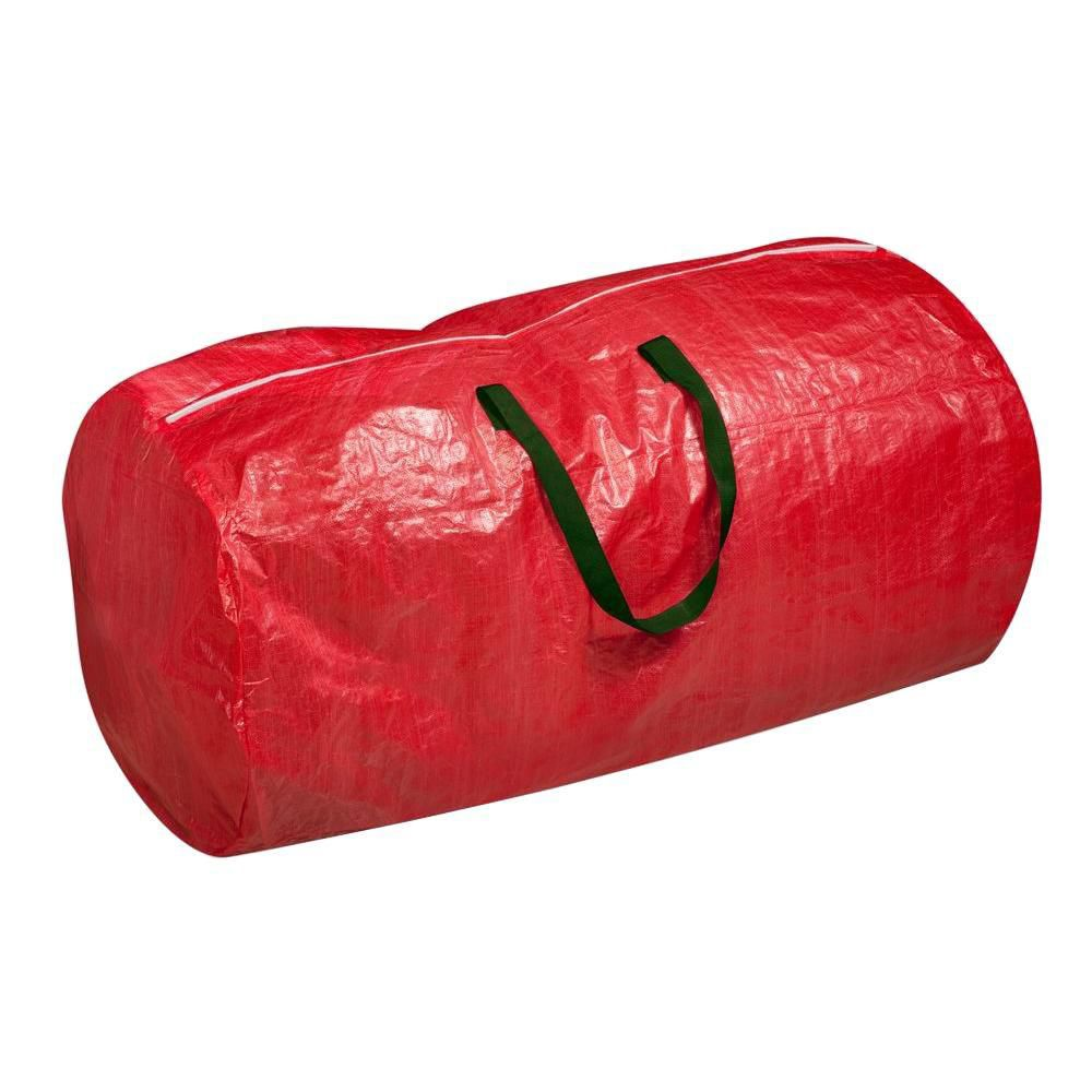 Tree Storage Bag: Red with green handles