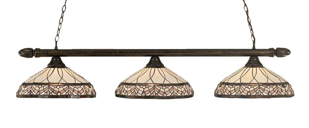 Concord 3 lumières plafond Bronze Incandescent Bar de billard avec A Royal Merlot Le verre selon ...