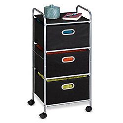 Honey-Can-Do International 3-Drawer Fabric Storage Cart