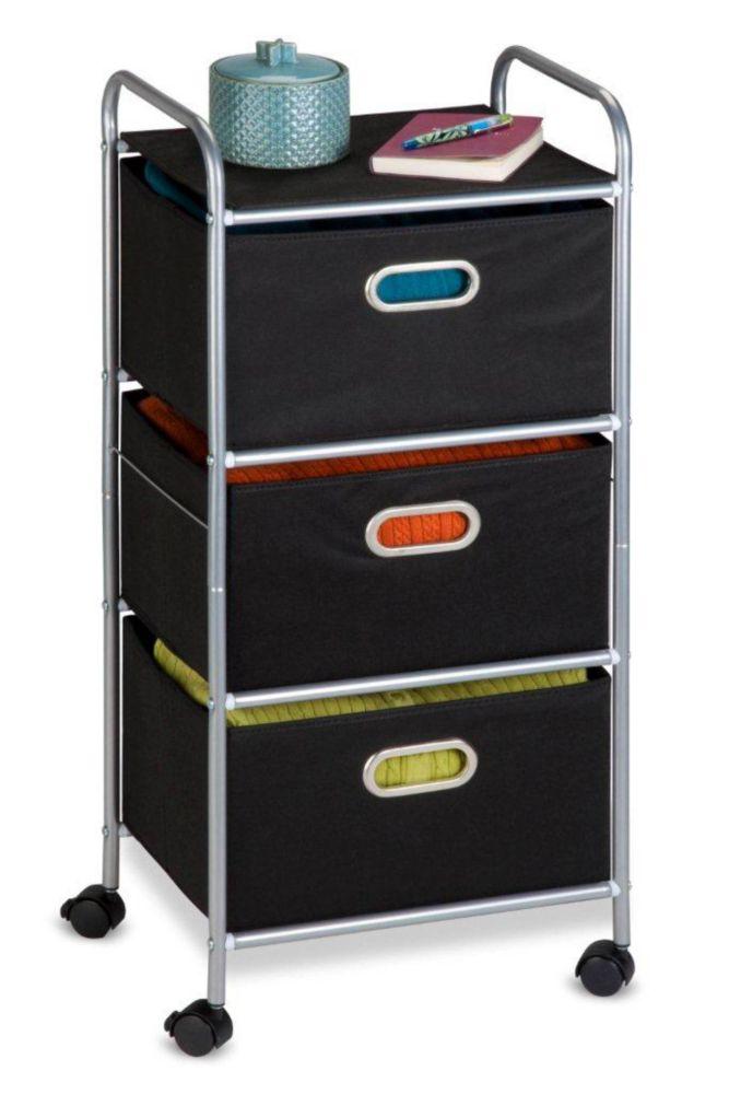 3 Drawer Fabric Storage Cart