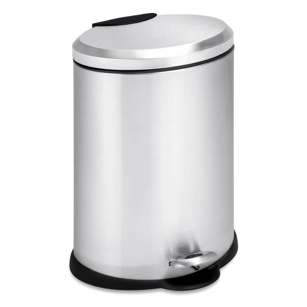 Honey-Can-Do International 12L Oval Stainless Steel Step Can