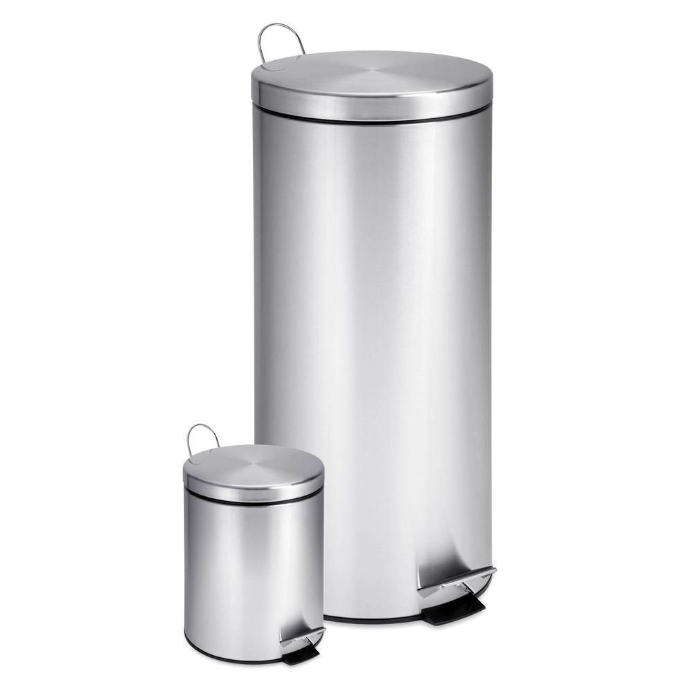 30L and 3L Stainless Steel Step Can Combo