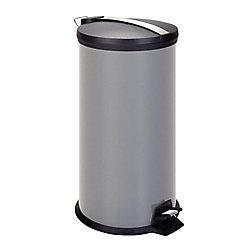 Honey-Can-Do International 30L Metal Step Trash Can, Gray