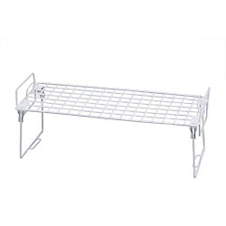 Honey-Can-Do International Lock and Link 22-inch x 10-inch Kitchen Cabinet Organizer in White (2-Pack)