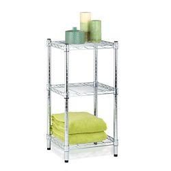 Honey-Can-Do 3-Shelf 14-inch W x 30-inch H x 15-inch D Steel Shelving Unit