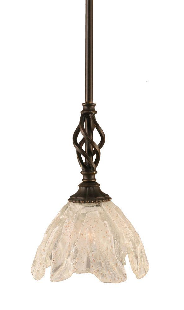 Concord 1 lumière au plafond granite foncé Pendeloque incandescence par une verre cristal