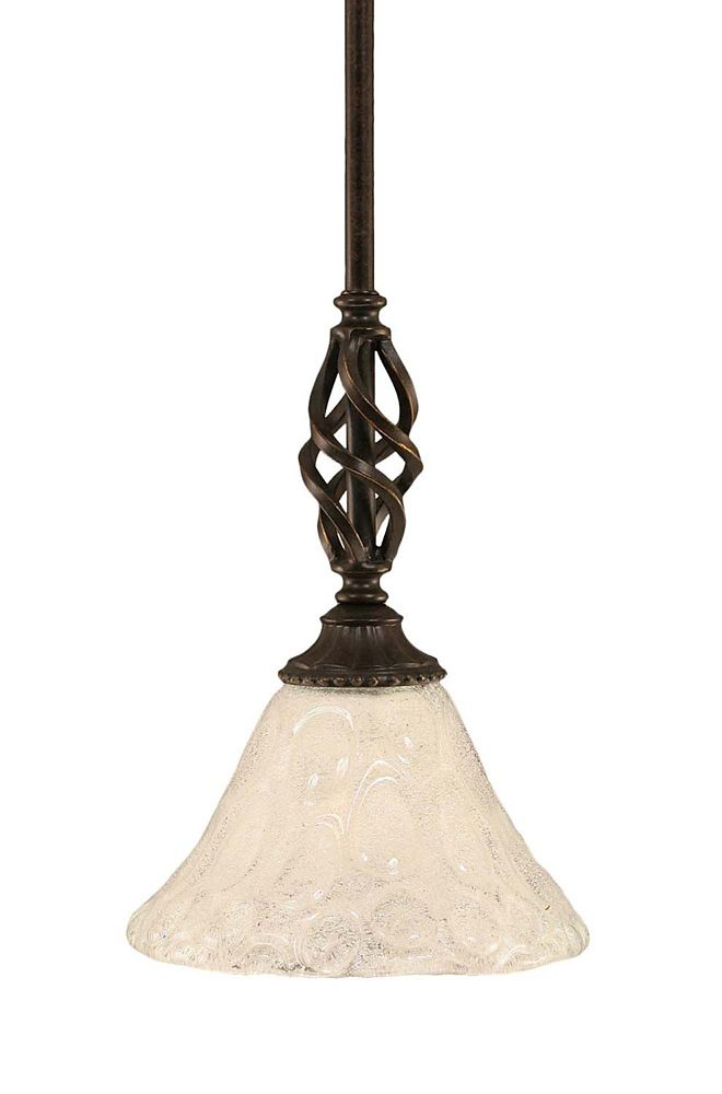 Concord 1 Light Ceiling Dark Granite Incandescent Pendant with a Clear Crystal Glass