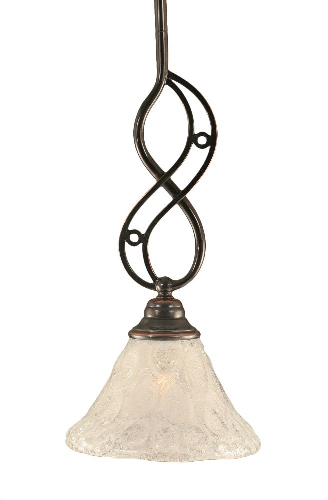 Concord 1-Light Ceiling Black Copper Pendant with a Clear Crystal Glass