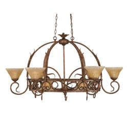 Filament Design Concord 8-Light Ceiling Bronze Chandelier with an Amber Glass