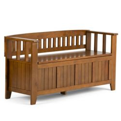 Simpli Home Acadian Collection Entryway Bench