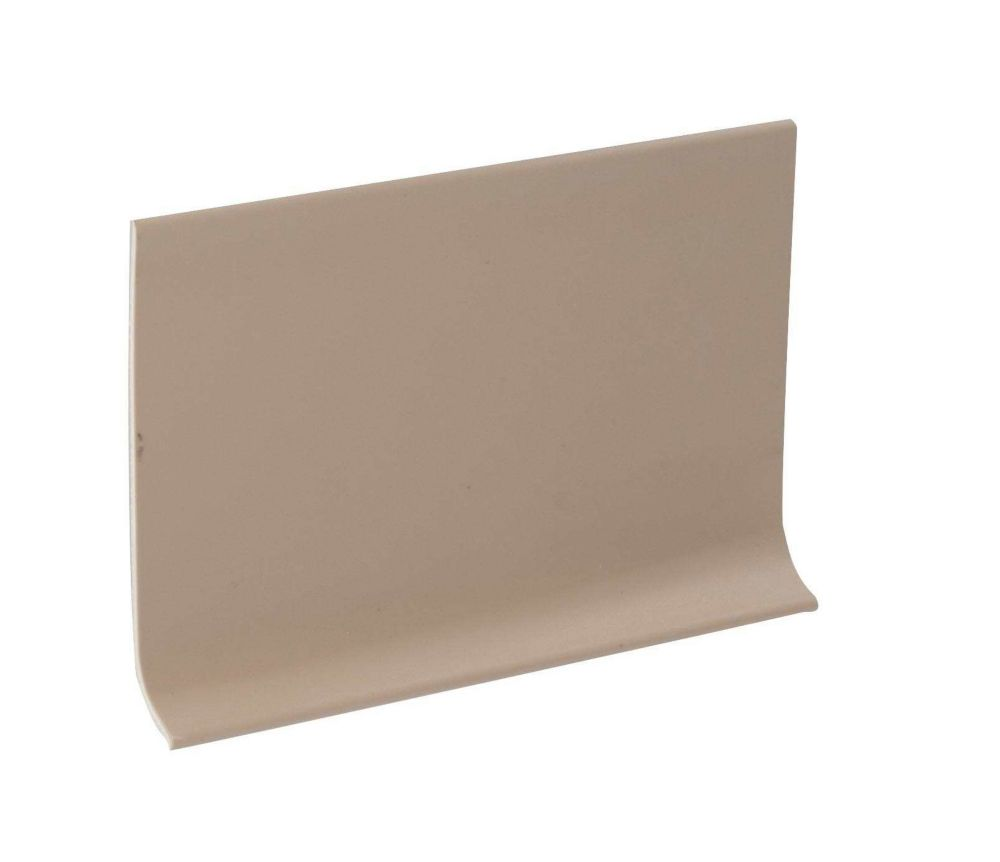 4 Inch Rubber Wall Cove Base - 100 Foot Roll - Beige