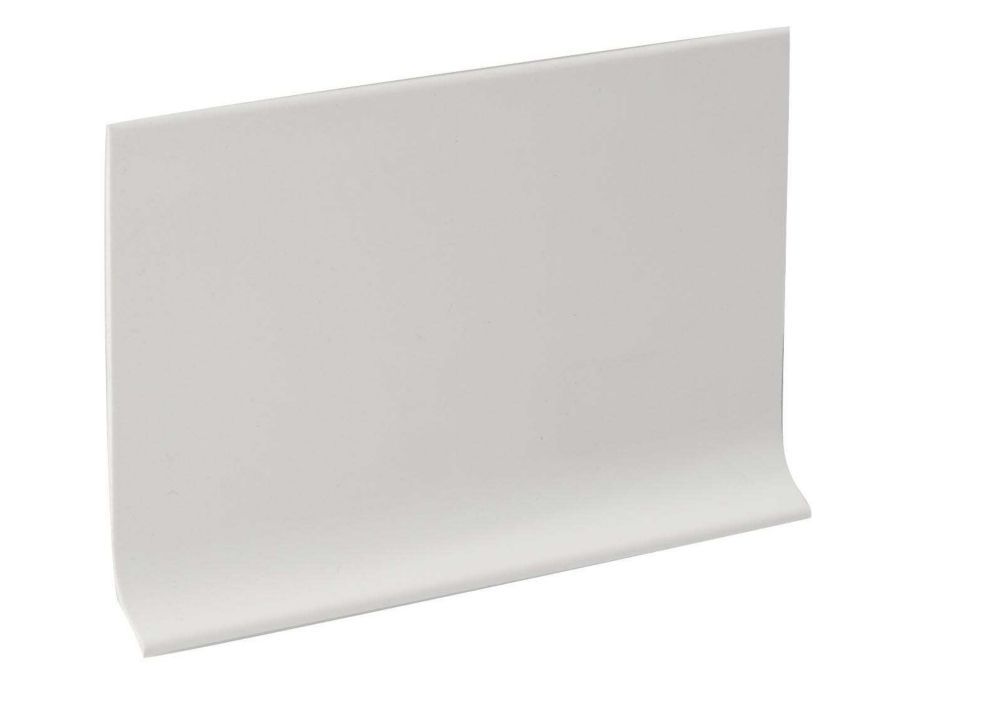 4 Inch Rubber Wall Cove Base - 100 Foot Roll - White