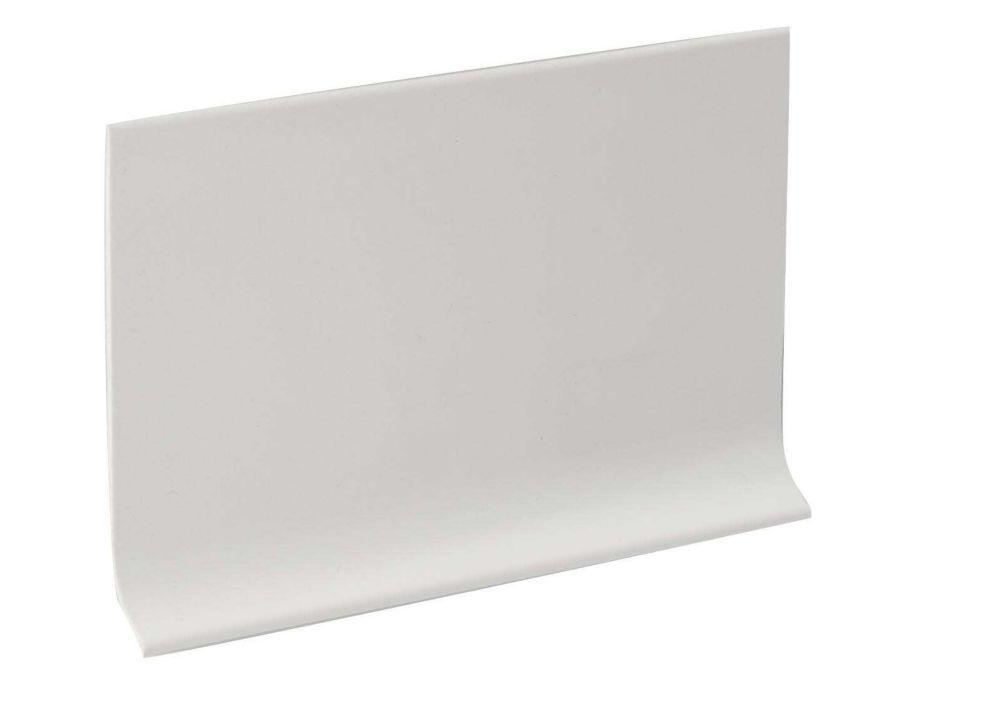 Rubber mur Plinthe - Rouleau De 100 Pied - Blanche