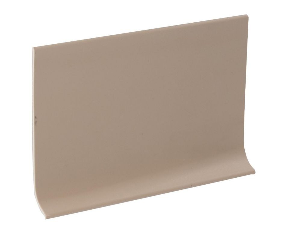 4 Inch Rubber Wall Cove Base - 100 Foot Roll - Putty