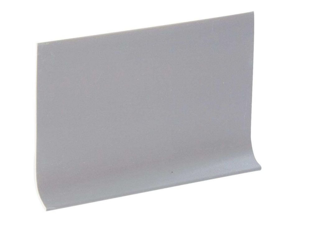 4 Inch Rubber Wall Cove Base - 100 Foot Roll - Silver Grey