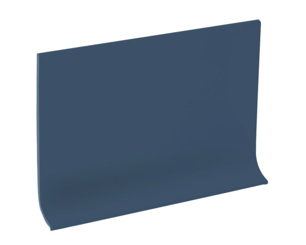 4 Inch Rubber Wall Cove Base - 100 Foot Roll - Steel Blue