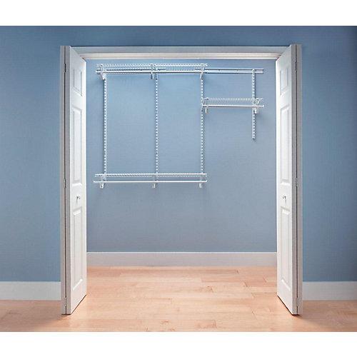 ShelfTrack 4 ft. - 6 ft. White Wire Closet Organizer Kit