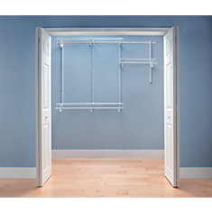 ClosetMaid ShelfTrack 4 ft. - 6 ft. White Wire Closet Organizer Kit