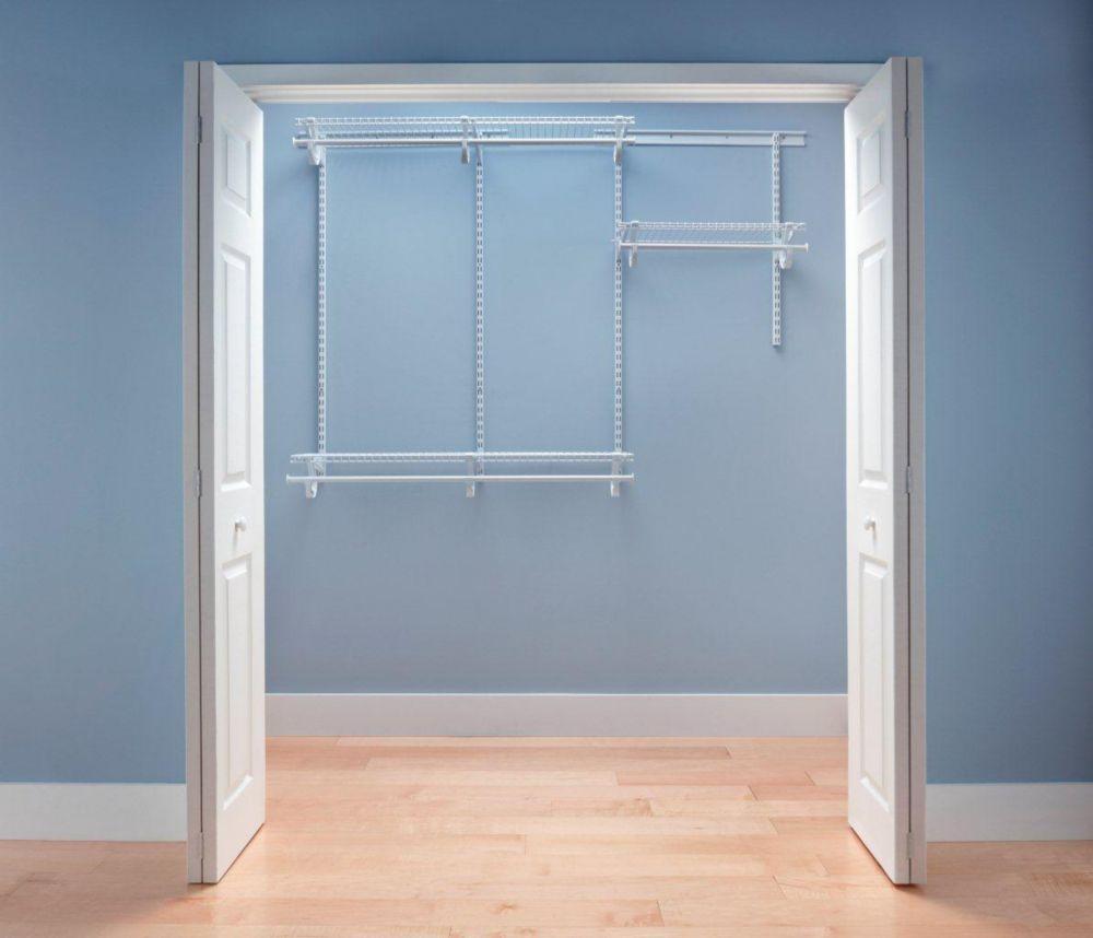 ClosetMaid ClosetMaid ShelfTrack 4 ft. - 6 ft. White Wire Closet ...