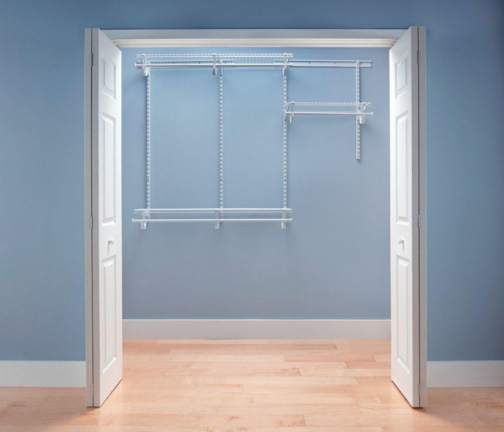 ClosetMaid ClosetMaid ShelfTrack 4 ft. - 6 ft. White Wire Closet Organizer Kit