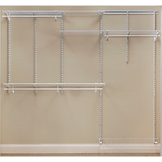 Kit d'organisateur de garde-robe ShelfTrack de 152,4 à 243,8 cm