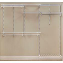 ClosetMaid Kit d'organisateur de garde-robe ShelfTrack de 152,4 à 243,8 cm