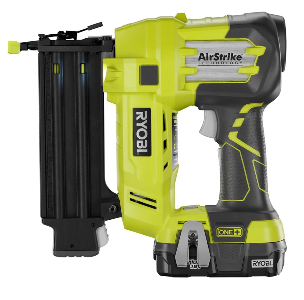 Battery Powered Roofing Nailer RYOBI 18V ONE+ Cordless Brad Nailer | The Home Depot Canada