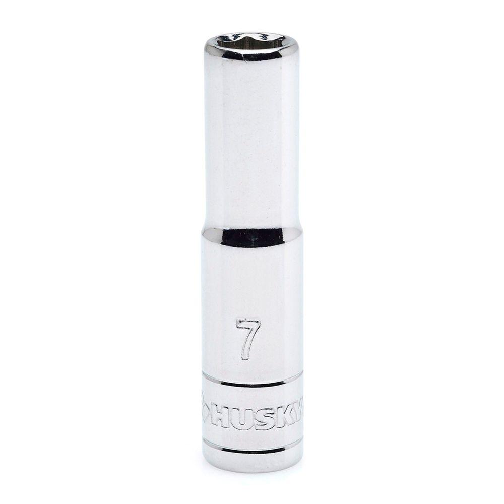 HUSKY Socket 1/4 Inch Drive 7 Millimetres 6 Point Deep Metric