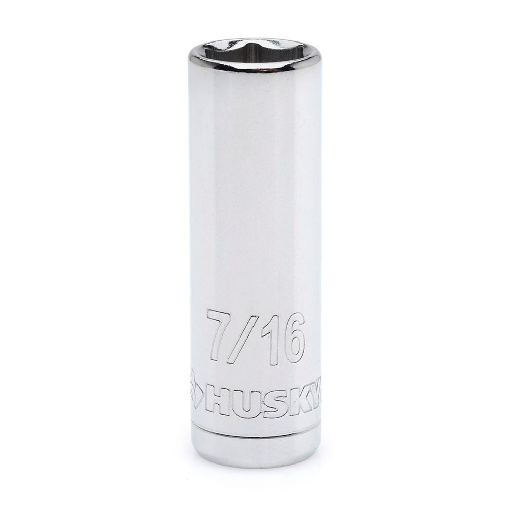 HUSKY Socket 1/4 Inch Drive 7/16 Inch 6 Point Deep SAE