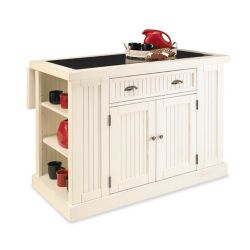 Home Styles Nantucket White Kitchen Island With Granite Top
