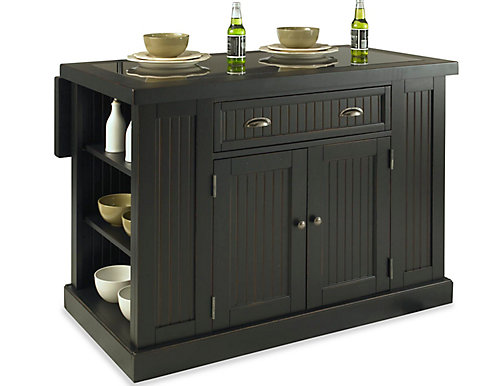 Home Styles Nantucket Black Kitchen Island With Granite Top The - Home depot canada kitchen island